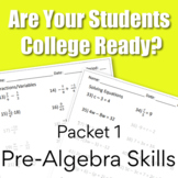 College Readiness Math Packet 1 - Pre-Algebra {TSI/ACCUPLACER}