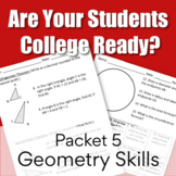 College Readiness Math Packet 5 - Geometry Skills (TSI/ACCUPLACER)