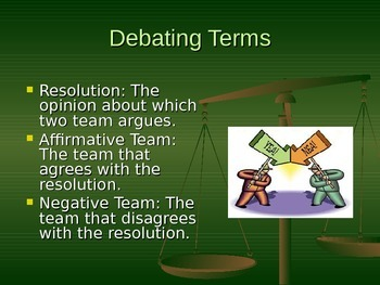 Creating a Debate - Convincing Your Opposition! PowerPoint