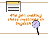 Are You Making These Mistakes in English?