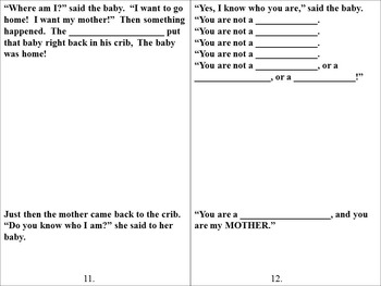Are You My Mother?  A Mother's Day Writing Activity