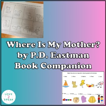Are You My Mother? By P.D. Eastman Book Companion - Pics,