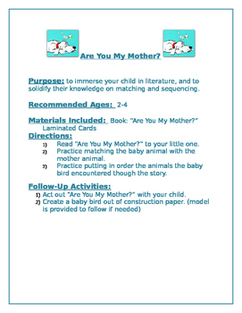 Are You My Mother Family Packet