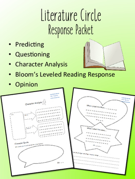 Are You My Mother? Literature Circle Response Packet- Book Club- Novel Study