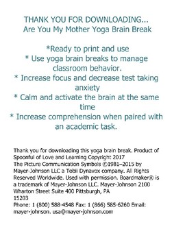 Are You My Mother Yoga Brain Break