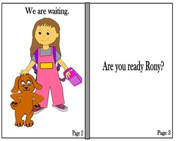 Are You Ready Rony? It's Time to Go to School