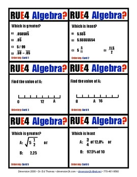 Are You Ready for Algebra?