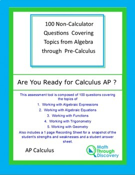 Are You Ready for Calculus AP?