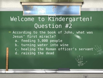 Are You Smarter Than A 5th Grade Sunday School Student