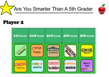 Are You Smarter Than A 5th Grader, 1-4 Player Version