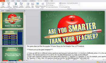 are you smarter than your teacher? powerpoint template  tpt, Powerpoint