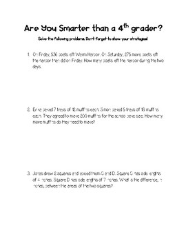 Are You Smarter Than a 4th Grader?
