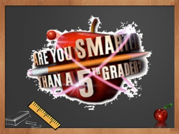 Are You Smarter Than a 5th Grader Game Template