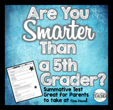 Are You Smarter Than a 5th Grader Quiz (FREEBIE)
