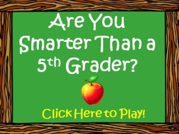 are you smarter than a fifth 5th grader powerpoint template, Modern powerpoint