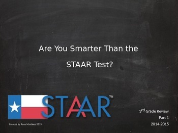 Are You Smarter Than the STAAR Test? English and Spanish Version 1