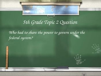 Are You Smarter than a 5th Grader Review Game- The Constitution