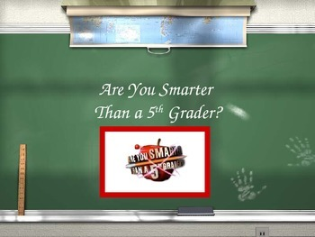 Are You Smarter than a 5th Grader Review Game- The Revolutionary War