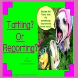Are You Tattling? Or Reporting?  Rescue Dogs' Social Skills SPED/ELD/AUTISM