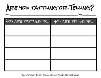 Are You Tattling or Telling?