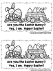 Are You The Easter Bunny?  (A Sight Word Emergent Reader)