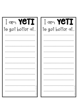 Are You YETI for New Year? New Year Goal Setting Craft