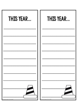 CAUTION: Awesome Year Ahead! New Year Goal Setting Craft
