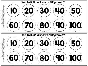 """Are You """"YETI"""" to Count By Tens? (Skip Counting & Sequencing Numbers by Ten)"""