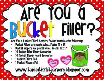 picture regarding Bucket Printable known as Are Your self a Bucket Filler? Match Packet Printable