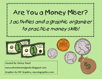 Are You a Money Miser?  Money Activities Up to $2.00
