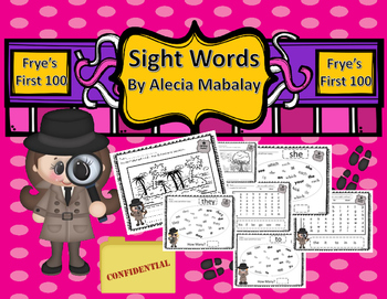 Are You a Sight Word Spy?  (Frye's First 100 Sight Words)