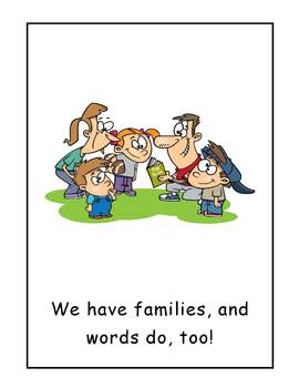 Are You in My Family? Word Family Big Book