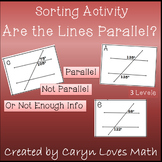 Are the Lines Parallel~Using Angles~ Sorting Activity