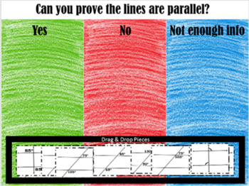 Are the Lines Parallel~Using Angles~Google Drive Interactive Sorting Activity