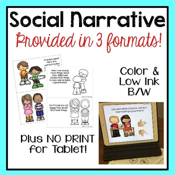 Social Narrative Set: & Activities: Are they Friends?