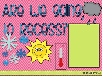 Are we going to recess? Classroom Posters