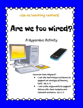 Are we too wired? Debate Hyperdoc