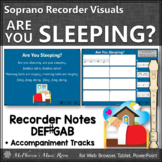 Soprano Recorder Song ~ Are you Sleeping? Interactive Visuals {Notes DEF#GAB}