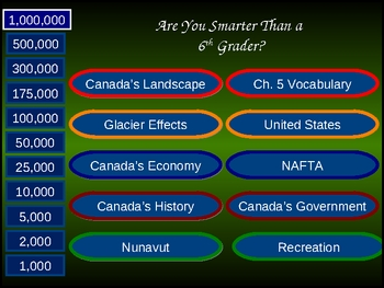 Are you Smarter than a 5th Grader - Canada Version