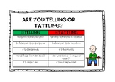 Are you Telling or Tattling poster