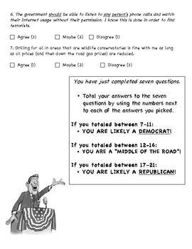 """Are you a Republican or Democrat?"" Poltical Parties Survey"