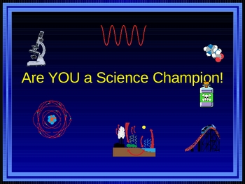 Are you a Science Champion-quiz game