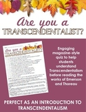 Are you a Transcendentalist? Quiz -- Perfect as an intro t