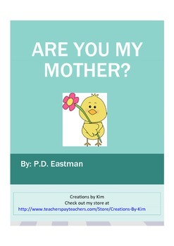 Are you my Mother?  Reader's Theater Reading Response, Common Core