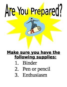 Are you prepared sign!