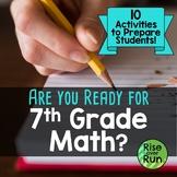Prepare for 7th Grade Math, Are You Ready? Bundle