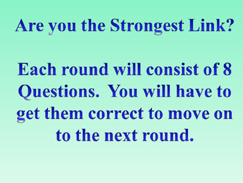 Are you the Strongest Link?  5th grade Geometry Game