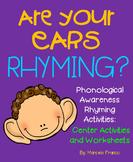 Phonological Awareness Rhyming Activities- Center Activiti