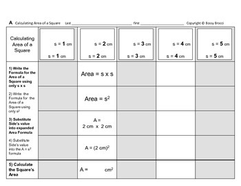 Area 01: Solve Area of a Square & How Changing Side Affects Area + QUIZ