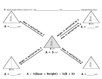 Area 10: Calculating Area  + Base & Height's Effect on Area of a Triangle